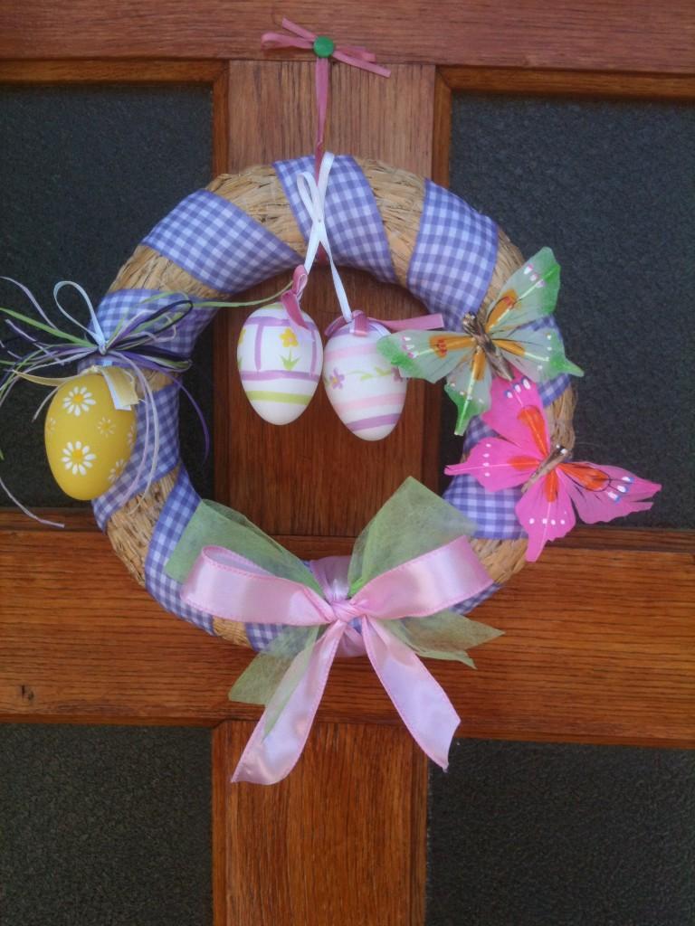 DIY : couronne de porte pour Pâques