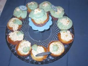 Cup cakes bleus