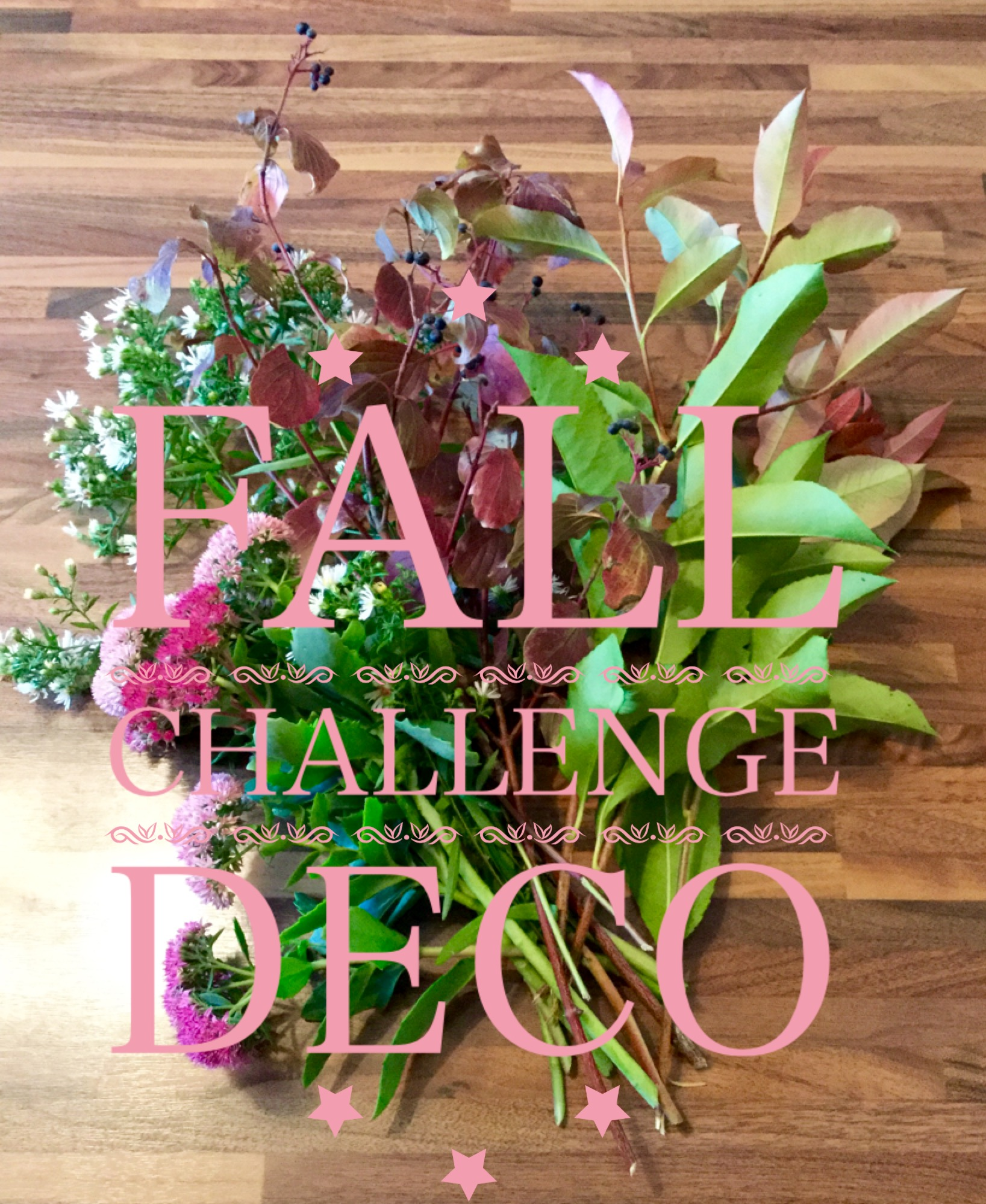 Fall challenge déco…!