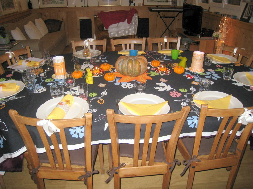Jolie table de Thanksgiving Marie-Maguelone