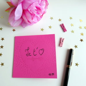 De jolies cartes pour dire Je t'aime