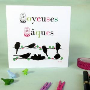 Carte Joyeuses Pâques M-Maguelone