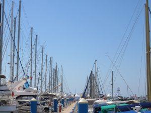 Mats des bâteaux du port de la Grande Motte