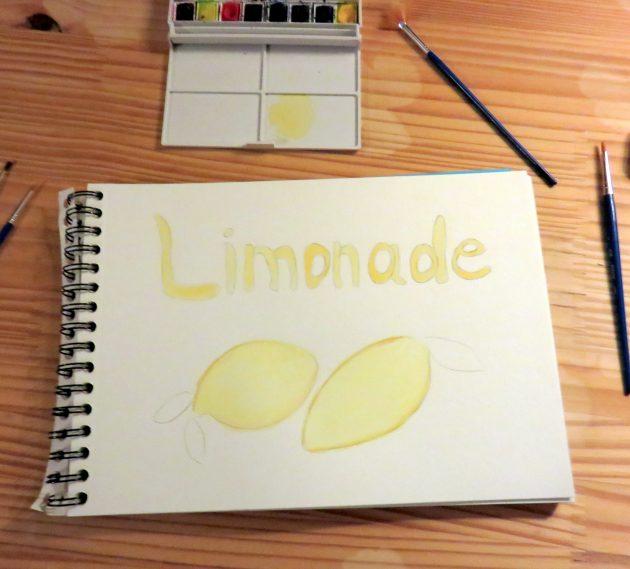 Aquarelle citrons