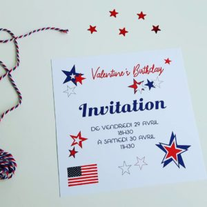 Carte d'invitation USA Party