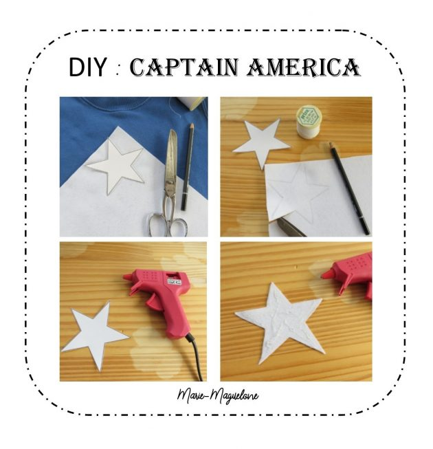 DIY sweat Captain America