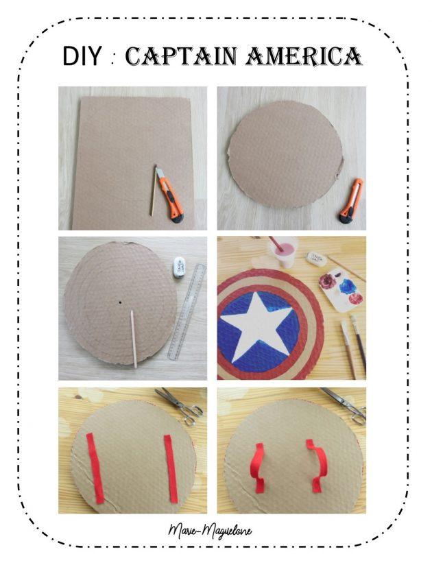 Diy bouclier Captain America