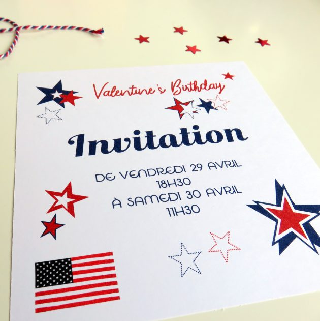 Invitation Usa Party par Marie-Maguelone
