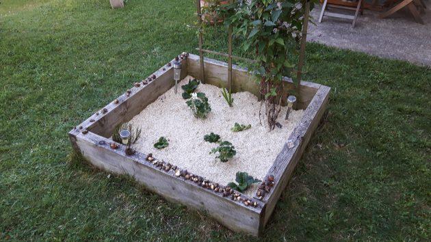 Jardin en carré : dernière étape