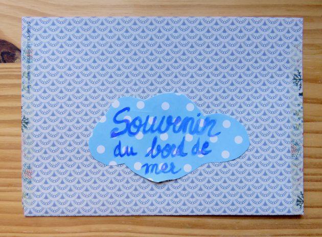 Enveloppe bleue