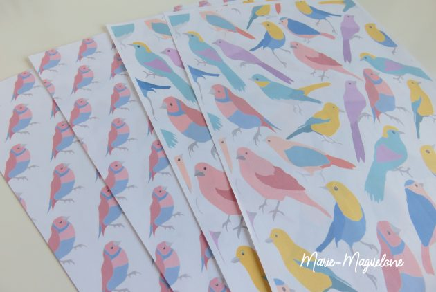 Printable oiseaux bleus (5)