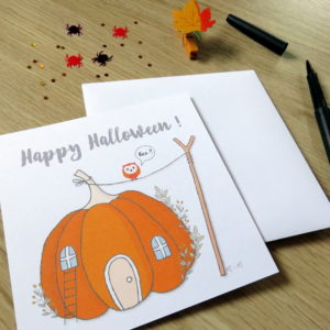 Carte Happy Halloween citrouille