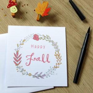 Happy Fall fleurs