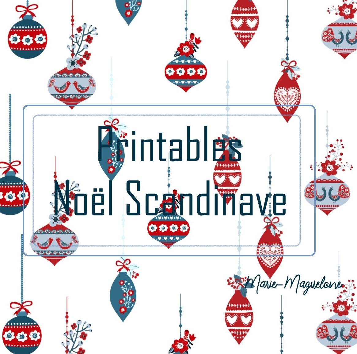 Printables Noël Scandinave