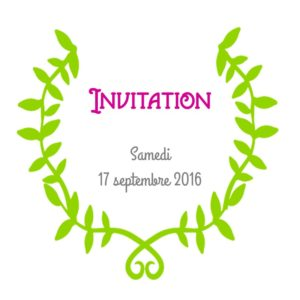 Carte d'invitation pour Chantal