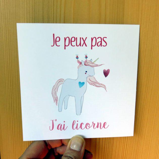 Je peux pas j'ai licorne, par Marie-Maguelone