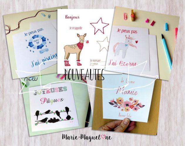 Jolies cartes par Marie-Maguelone