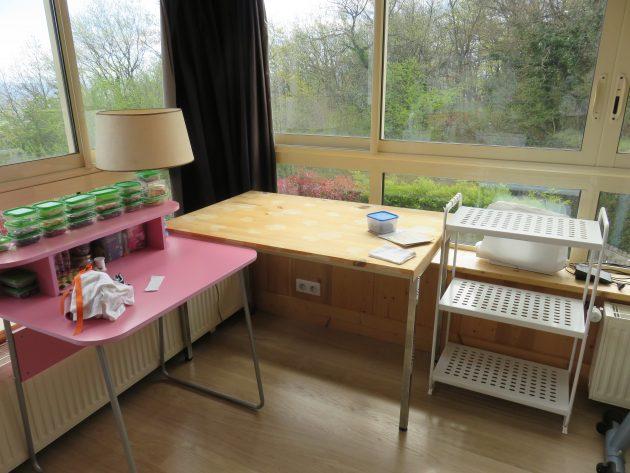 d coration et am nagements de mon nouvel atelier. Black Bedroom Furniture Sets. Home Design Ideas