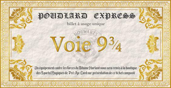 Idees Et Carte D Invitation Pour Un Anniversaire Harry Potter