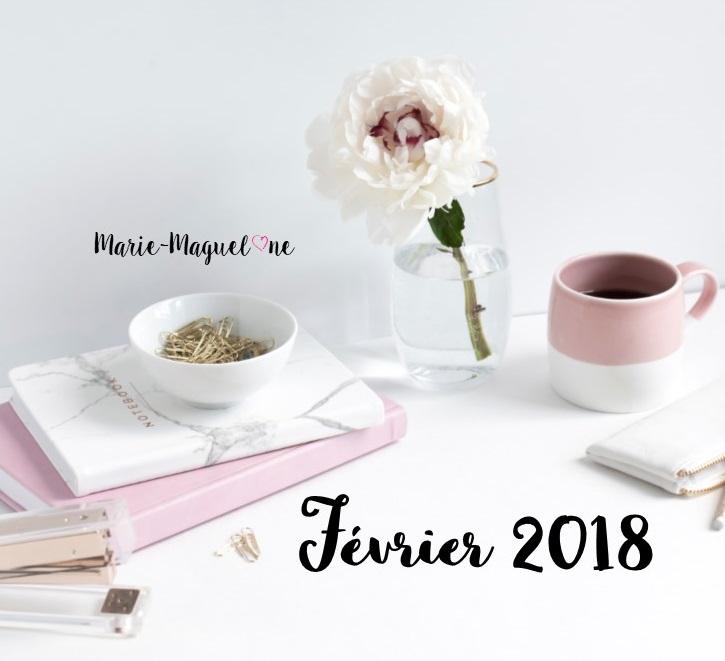 Calendrier mensuel – Février 2018