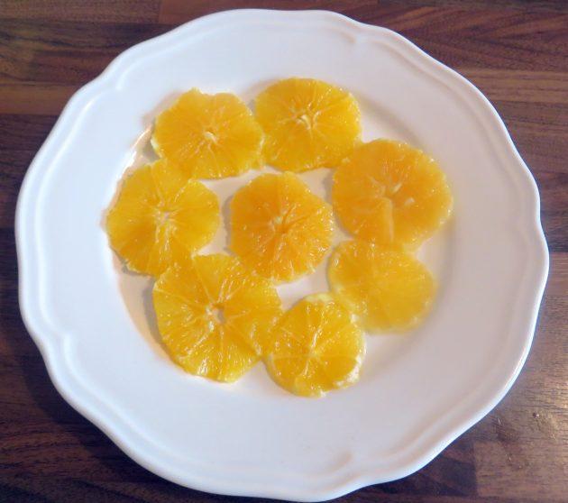 Meilleur avec un joli dressage pour la salade d'orange
