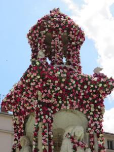 Fontaine en roses