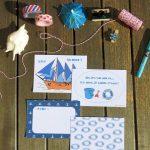 Cartes à écrire bleues