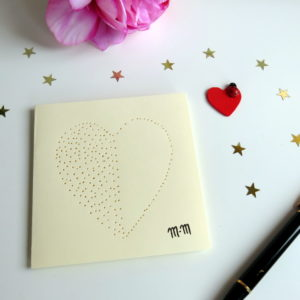 Carte coeur poinçonné