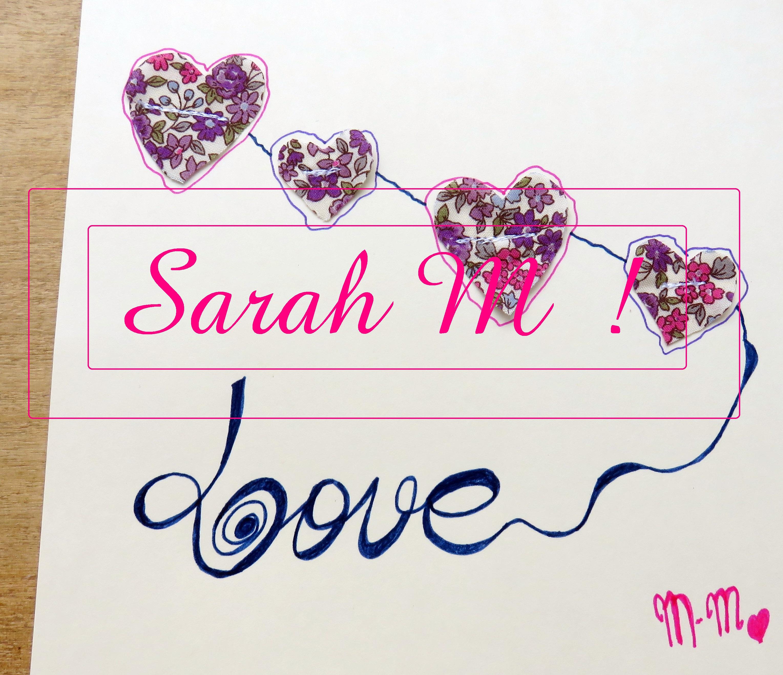 Jolis profils : Sarah M !