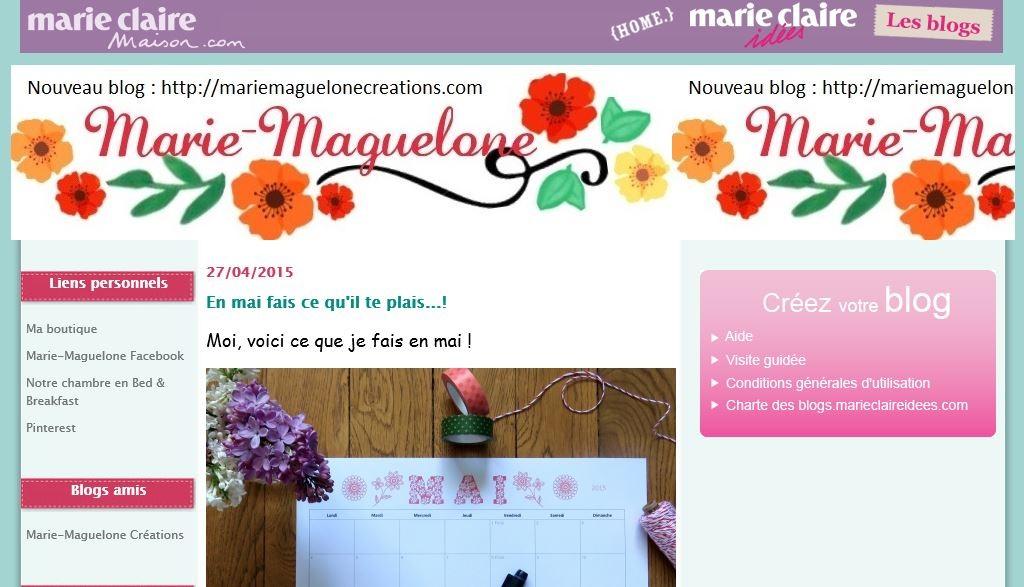 Mon tout premier blog Marie-Maguelone