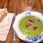 Recette de la soupe petits pois lardons