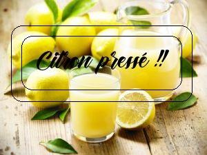 Citron préssé