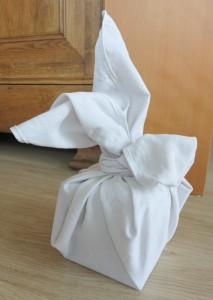 Lapin blanc : furoshiki
