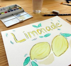 "Dessin à l'aquarelle ""Limonade"""
