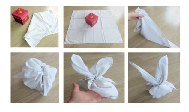 Pliages furoshiki : lapin