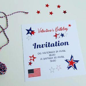 Carte d'invitation USA Party