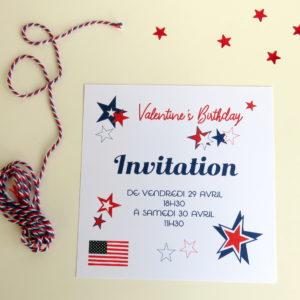 Invitation Usa Party