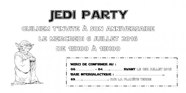 Invitation Star Wars MM