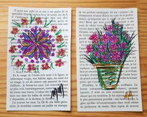 Fleurs dessinées à la main pour le Happy Mail
