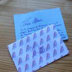 Lettre happy Mail bleu