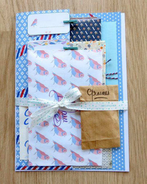 Pochette bleue du Happy Mail