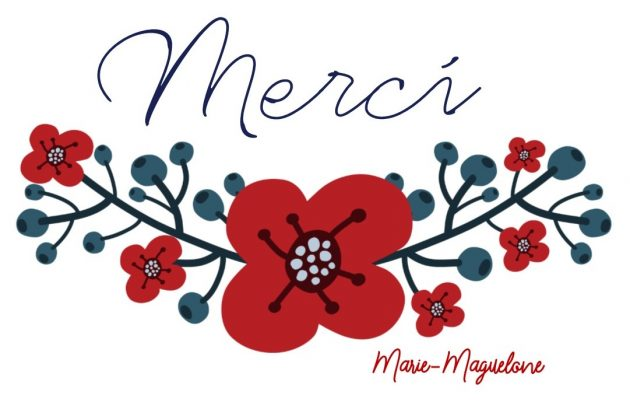 Merci par Marie-Maguelone red flowers