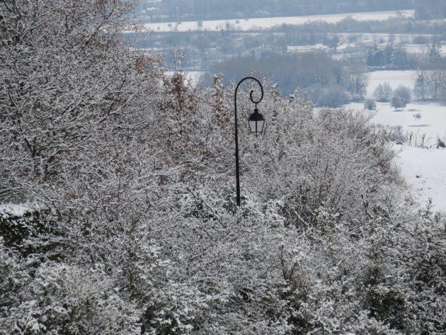 Neige sur la vallée de la Saône