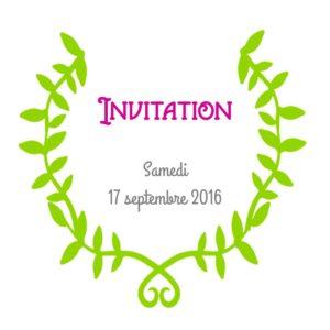 Carte d'invitation pour Chantal