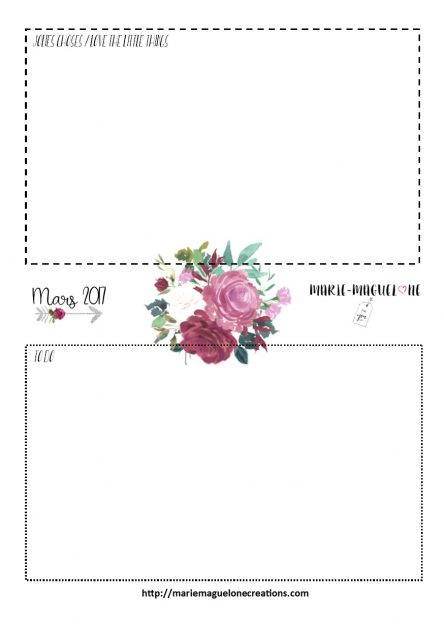 Page Jolies choses et To Do list Marie-Maguelone