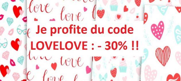 Code promo LOVELOVE -30% sur la boutique MarieMagueloneshop