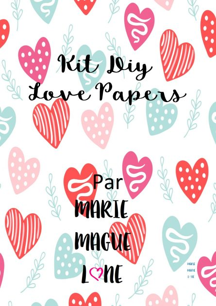 Kit Diy Love Papers par Marie-Maguelone
