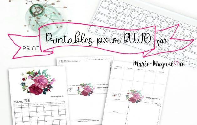 Printables pour Bujoo par Marie-Maguelone