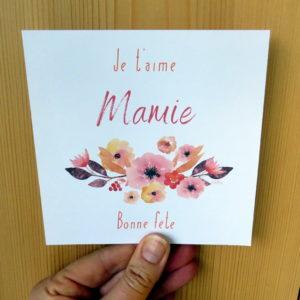 Carte Je t'aime Mamie par Marie-Maguelone